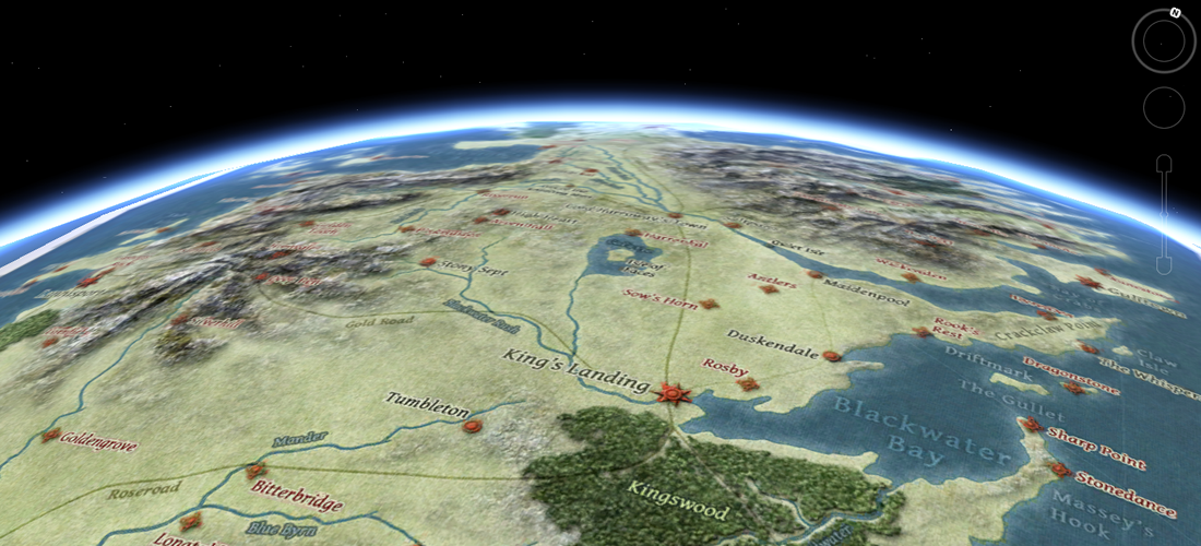 Westeros in Google Earth
